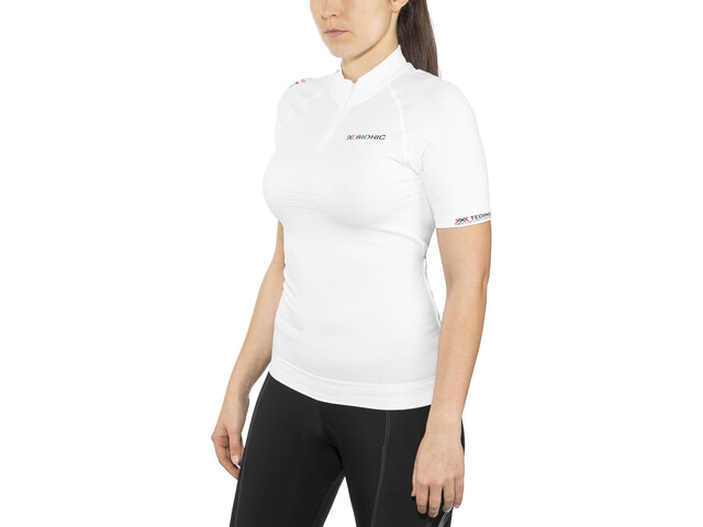 X-Bionic Biking Ae Lady Race Ow Shirt Sh_Sl. Femme, white/pearl grey
